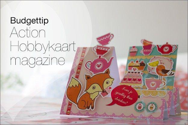 Budgettip: Action Mijn Hobbykaart magazine. Een magazine voor 99 cent. 30 kaarten maken.