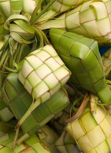 ketupat or packed rice for eid celebration