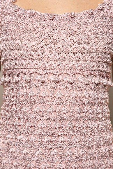 Vestido Crochet St. Tropez Morango | Vanessa Montoro