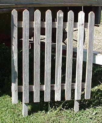 "Reclaimed Barnwood Plain Picket Fence, Approximately 24"" X 24"" with Additional 6"" Stakes for Sticking in the Ground. This Plain Picket Fence Is Perfect to Place in Front of Unsightly Items Such As an Air Conditioner, Roadside Trash Pick Up, Gas Pipes, Mailbox Post, Etc. Decorate the Fence for Seasonal Displays, Grapevines, Pip Berries, Barn Stars, or Other Items to Distract From What You Don't Want Seen and Showcase What You Do Want Seen. Place Several Next to Each Other to Line Your Flower…"