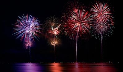 Fireworks over Lake Minnetonka