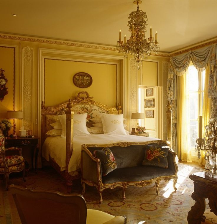 18th Century Palatial Bedroom in Gold by Brian J McCarthy
