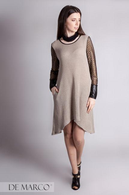 Lniane ubrania w kolekcji De Marco. Lniana sukienka 👍
