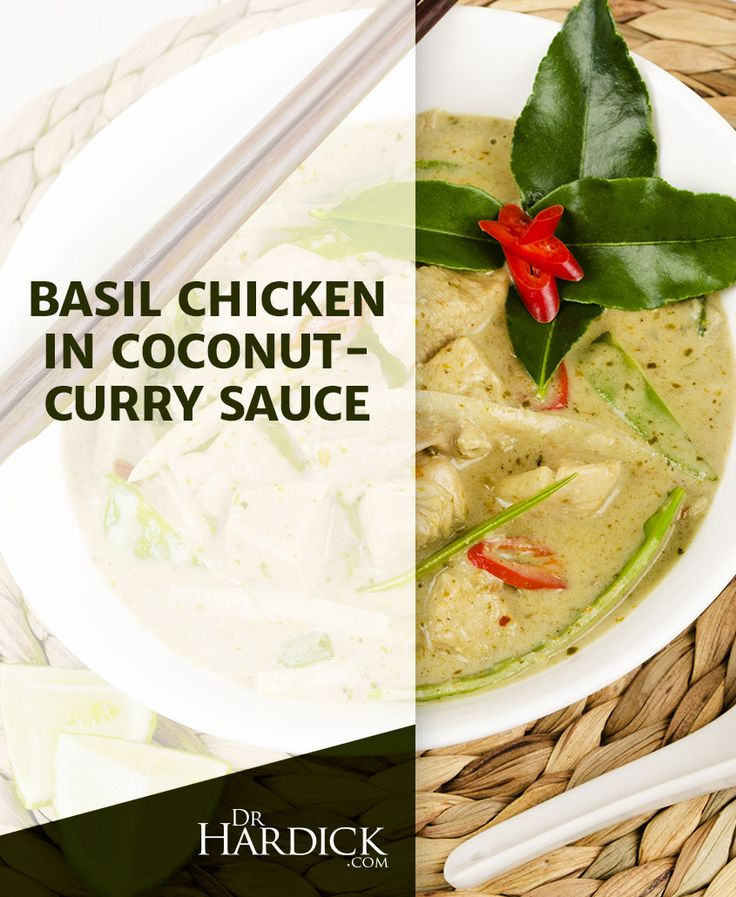 DrHardick.com | Basil Chicken in Coconut-Curry Sauce ...