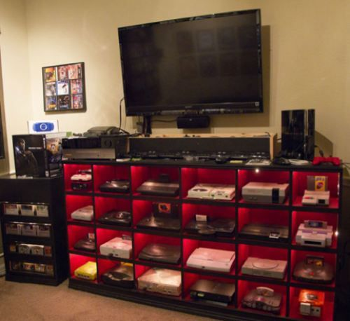 Gaming hub masterpiece! LOL now THIS is exactly what my son needs in his house!!!!