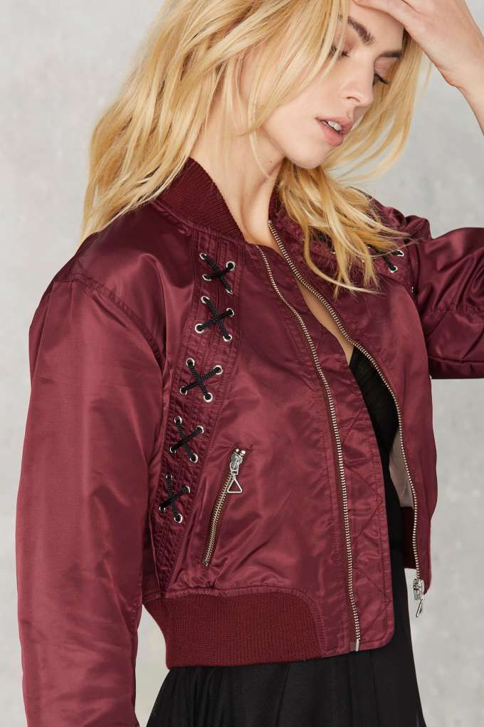 Nasty Gal Cassidy Bomber Jacket - Rules To Slip By | Best Sellers | Bomber + Utility | Jackets + Coats
