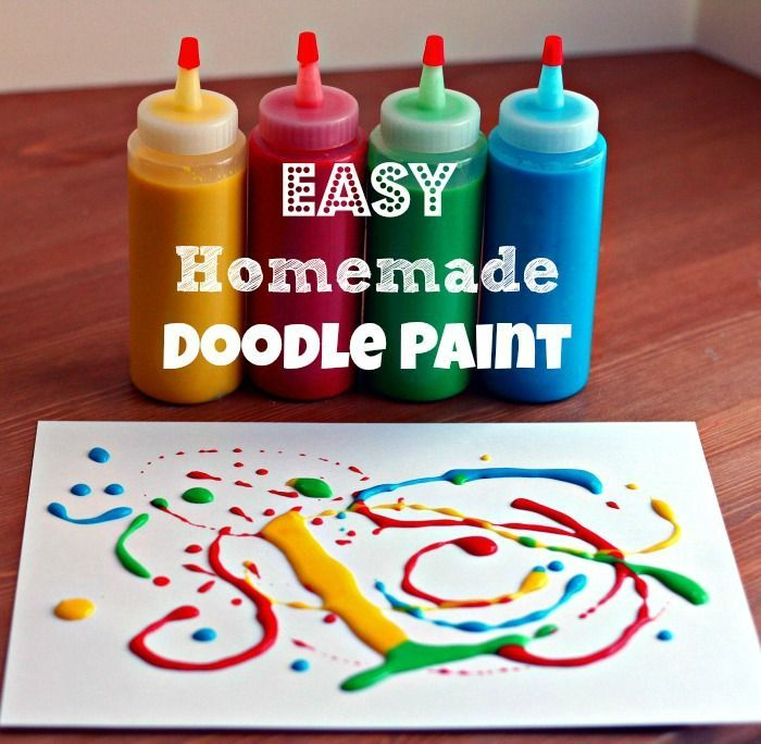 Homemade Doodle Paints What A Fun Idea For The Kids To Craft Or Make Art