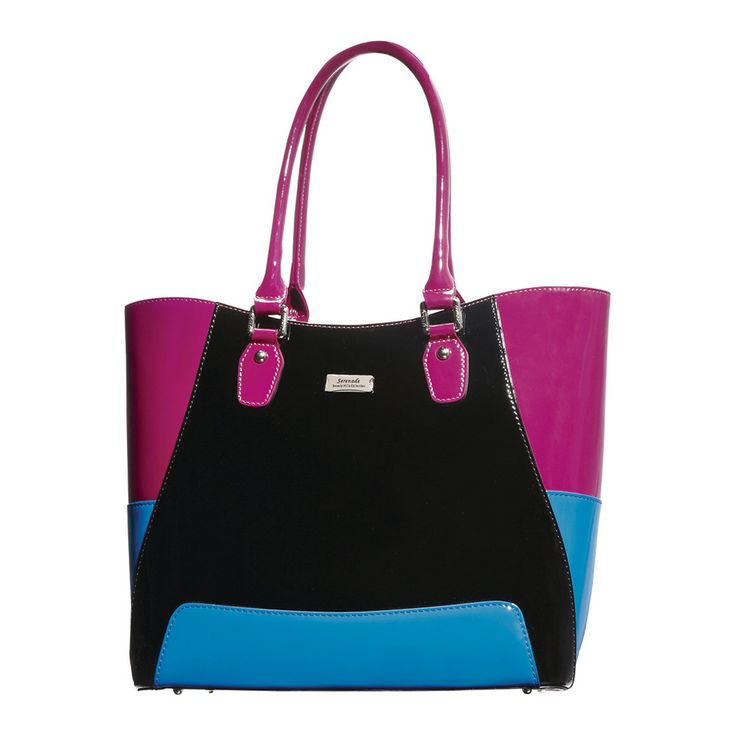 All Sorts Handbag  | Blue/Black/Purple by Serenade Leather