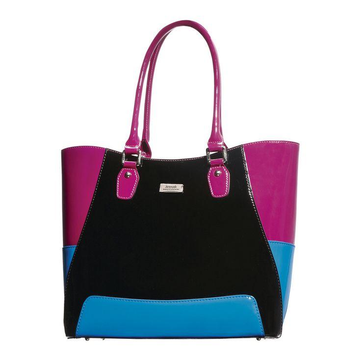 All Sorts Handbag  | Blue/Black/Purple by Serenade Leather