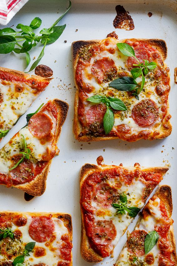 Easy pizza toast food photography, food styling, learn food photography