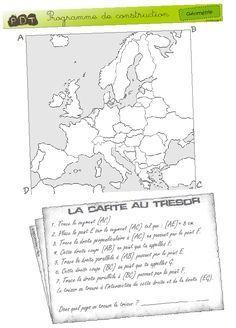 [Géométrie] Carte au trésor - Cycle 3 Essayé ce matin en remplacement dans une classe de cycle: étayage nécessaire pour les CE2, mais bon succès auprès de tous les élèves.