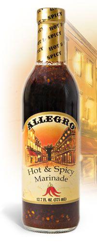 Allegro Marinade - Hot & Spicy Marinade ~ Spicy Chicken and Bowtie pasta
