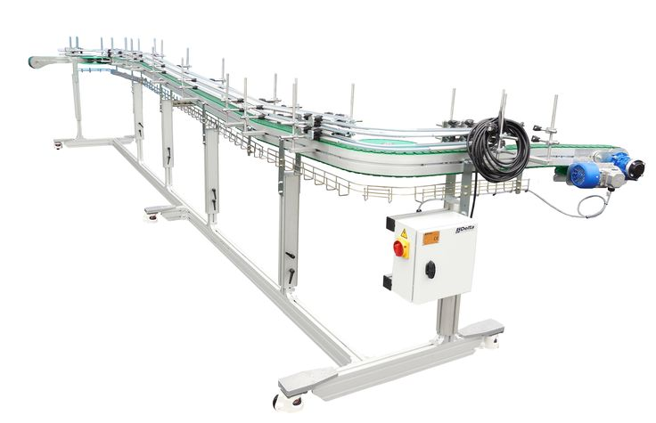 MOVEABLE CONVEYORS  The moveable conveyors are designed to be able to handle the most difficult empty plastic bottles on our conveyors, and be able to move them around easily. Can this be of any use in your factory ?  Please contact us per email sales@delta-engineering.be to have a discussion with our specialists how we can help to improve!  If you like to read the complete article on our web site knowledgebase, click below: https://delta-engineering.be/moveable-conveyors