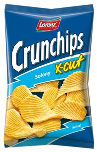 Crunchips X-cut Solony - niezastąpiony na imprezy! #Crunchips #chips #saltedchips #XCut