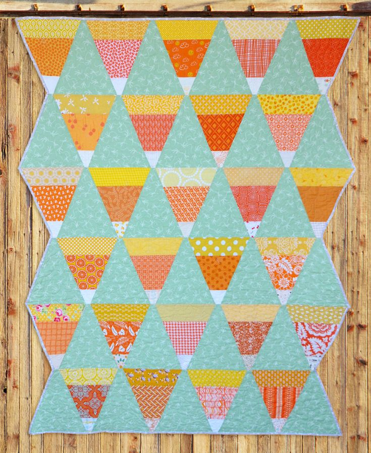 Candy Corn Quilt | Must Love Quilts | By Corinne S…