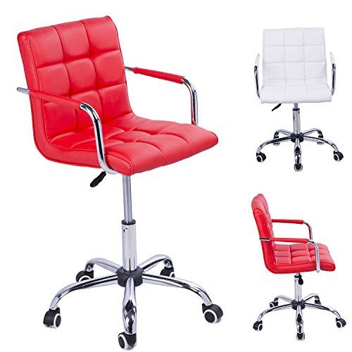 Homcom PU Leather Height Adjustable Office Computer Chair 360 Degree Swivel Chair with Chrome Base and  sc 1 st  Pinterest & 191 best Office Chairs and Stools images on Pinterest islam-shia.org