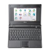 ASUS Eee PC 4G (7-Inch Display, Intel Mobile Processor, 512 MB RAM, 4 GB Hard Drive, Linux Preloaded) Galaxy Black (Personal Computers)By Asus
