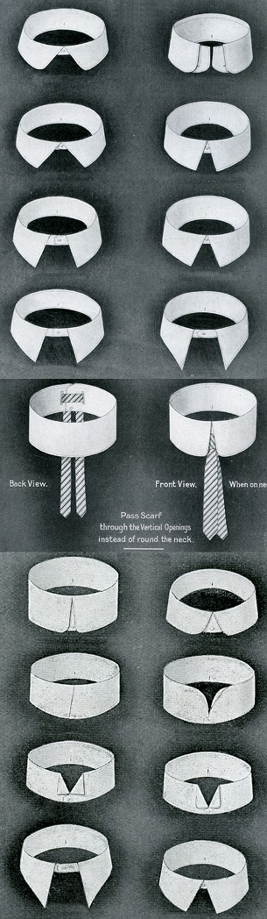 All of these cuff and collar styles probably mean something. And they most certainly say something about the person wearing said shirt. But what? Images from here, and here.