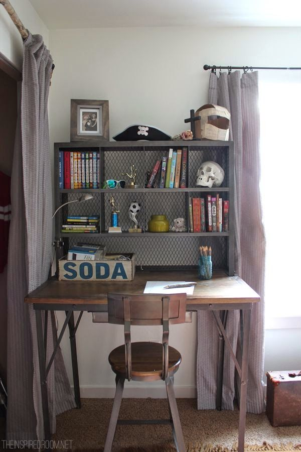 Teen Boyu0027s Room Industrial Desk the Inspired