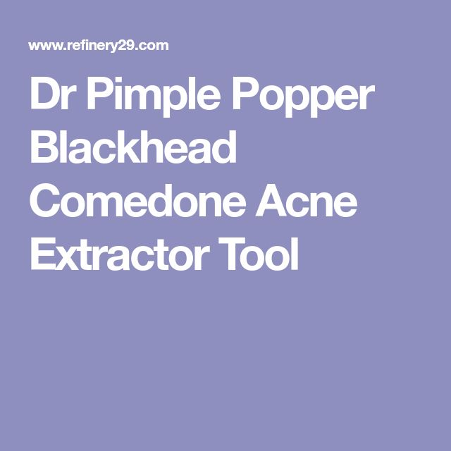 Dr Pimple Popper Blackhead Comedone Acne Extractor Tool