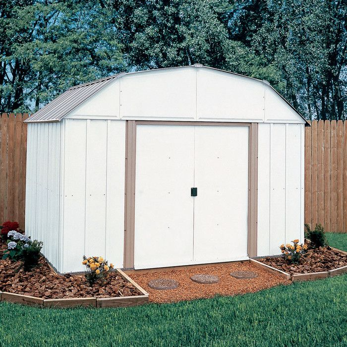 arrow lexington 10 ft w x 14 ft d steel storage shed u0026 reviews