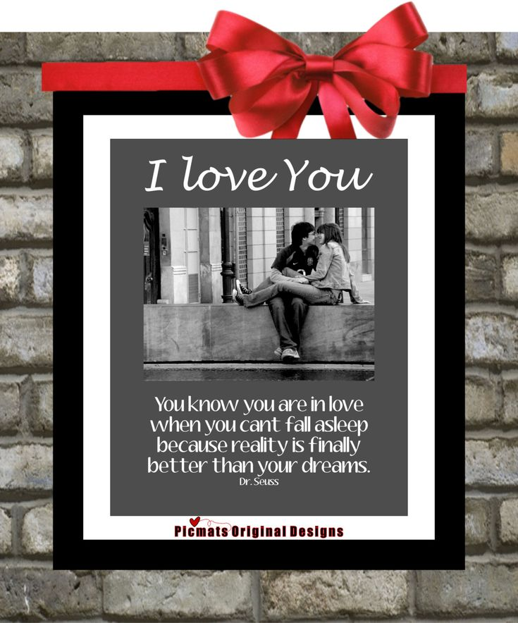 Gifts for Boyfriend or Girlfriend Anniversary : Personalized Dr. Seuss Quote Custom Picture Mat - Gifts for Significant Other or Couples.. $25.00, via Etsy.