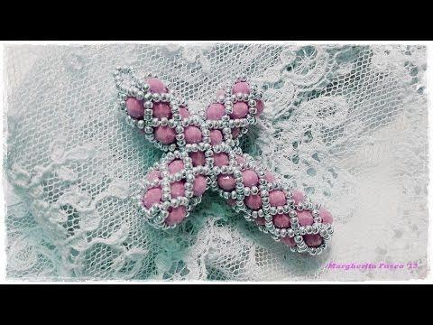 Tutorial perline: come fare una croce con perline e cristalli (bicono swarovski o cipollotti)
