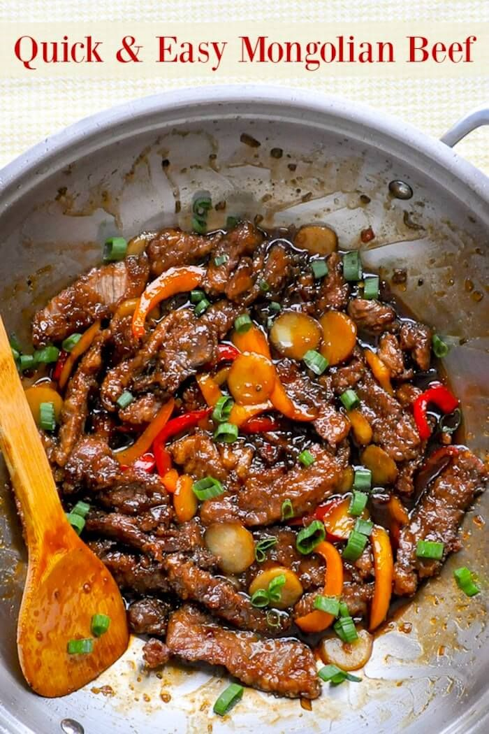 Mongolian Beef – a quick and easy recipe for a Chinese take-out favourite that you can make at home! People love this dish for its balance of sweet and salty flavours and this recipe has just a little extra zing.