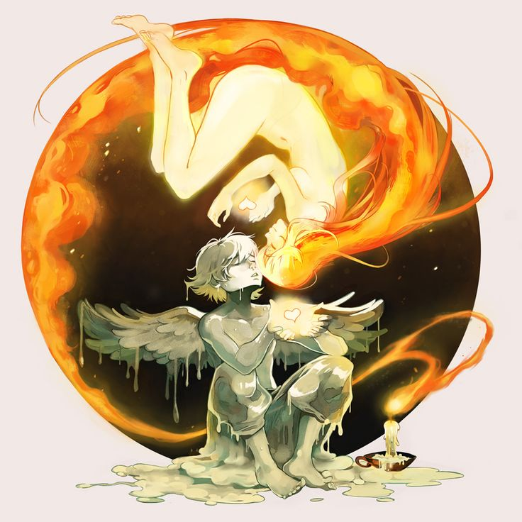 Melt my Heart by Picolo-kun. Inspired by Icarus, who dared to fly too near the sun on wings of feathers and wax. If he was in love with the sun, then this might as well be a story of forbidden love. #icarusandthesun
