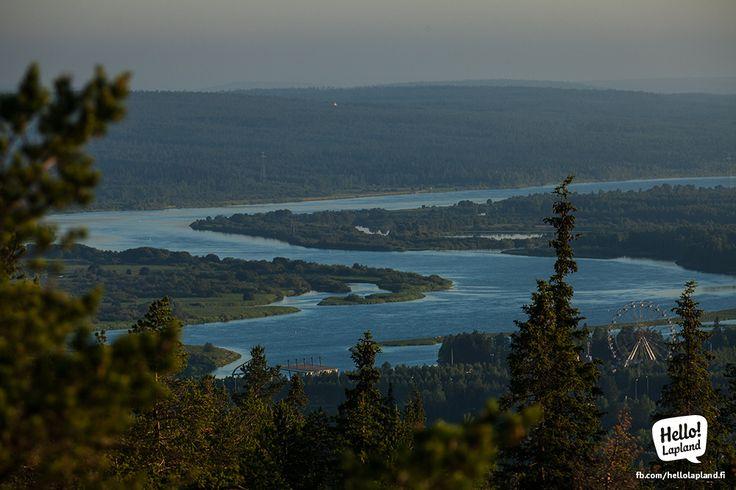 A view on Ounasjoki river from Rovaniemi's highest point - the Ounasvaara Fell.