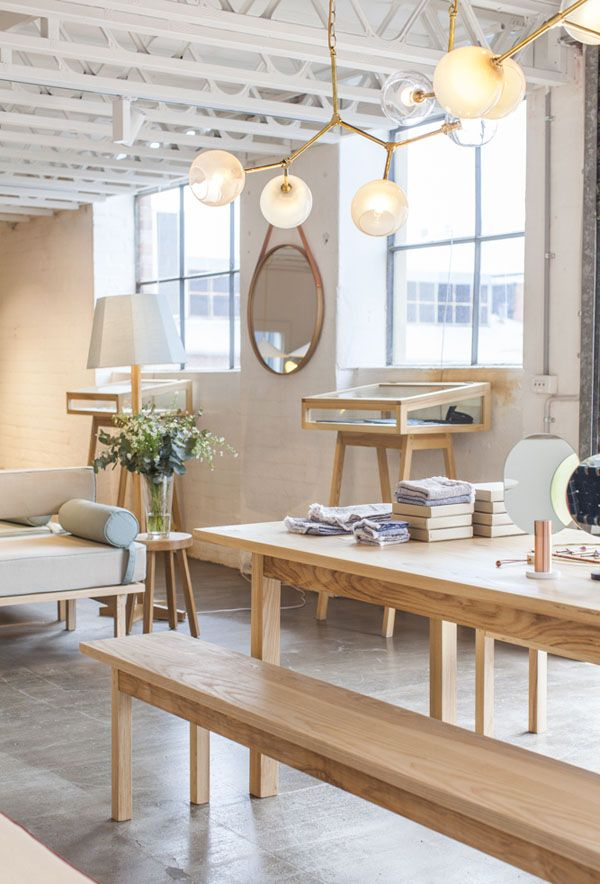 New Collingwood showroom of Douglas and Bec via The Design Files