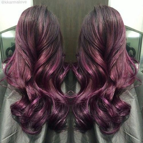 beautiful plum ombre beauty pinterest beautiful