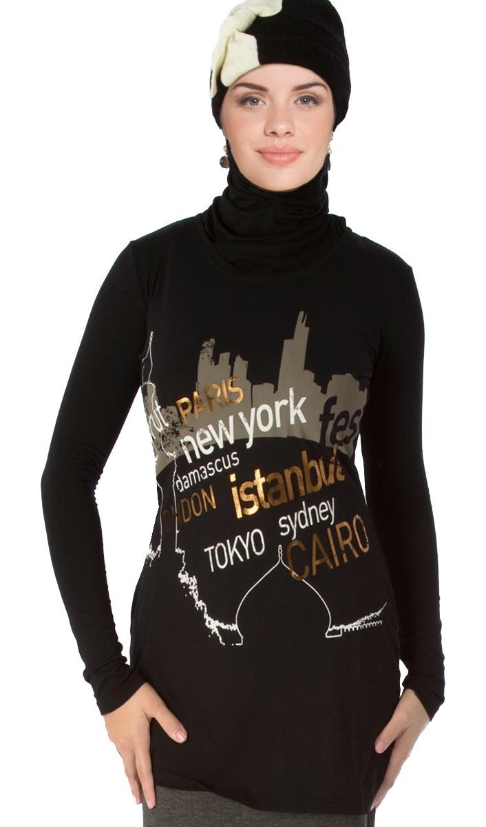 """One World"" Designer Islamic Tee (English)"