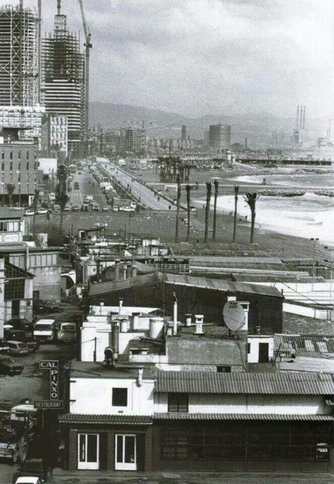 Barcelona 1991- Construcció de la Vila Olimpica.