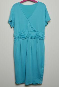Rochie pentru gravide verde-menta semi-transparenta