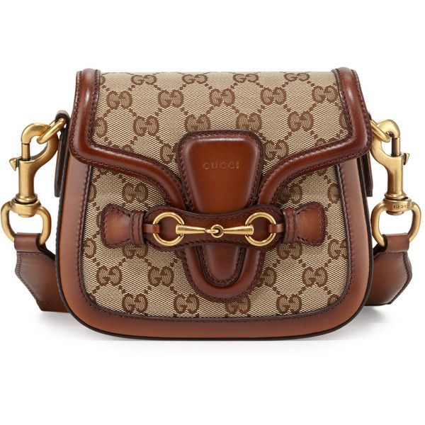 aa5360d1df01ac Gucci Lady Web Small GG Canvas Shoulder Bag (10.480 VEF) ❤ liked on  Polyvore featuring bags, handbags, shoulder bags, brown handba…
