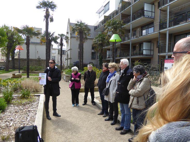 Visite commentée du Jardin Jean Giono dans le cadre du Printemps de l'architecture à #Brest avec http://www.a3paysage.com