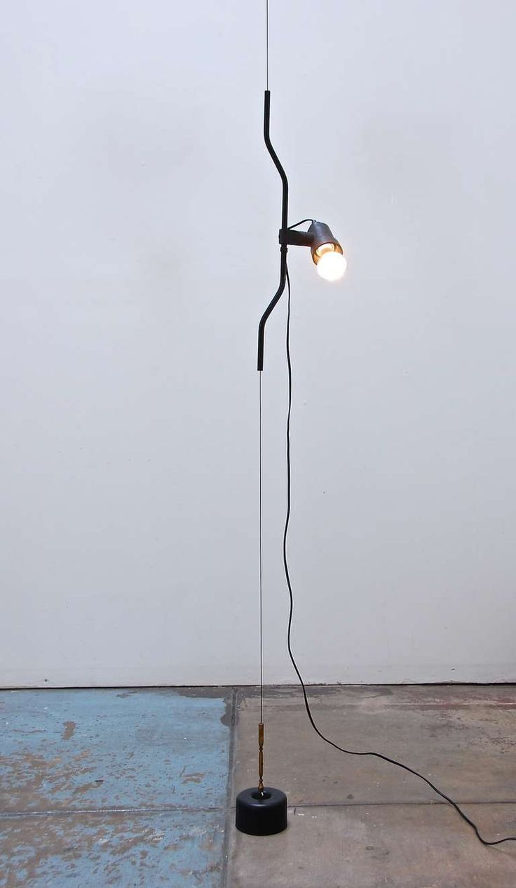 "Achille Castiglioni & Pio Manzu for Flos ""Parentesi"" Ceiling to Floor Lamp image 3"