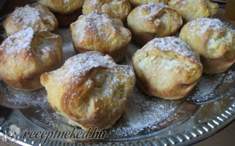 Túros bukta muffin formában recept fotóval