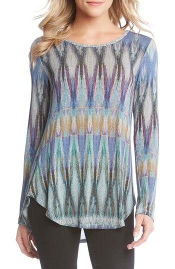 c7038ecc39f7 New Karen Kane Ikat Print Shirttail Tee online in 2018