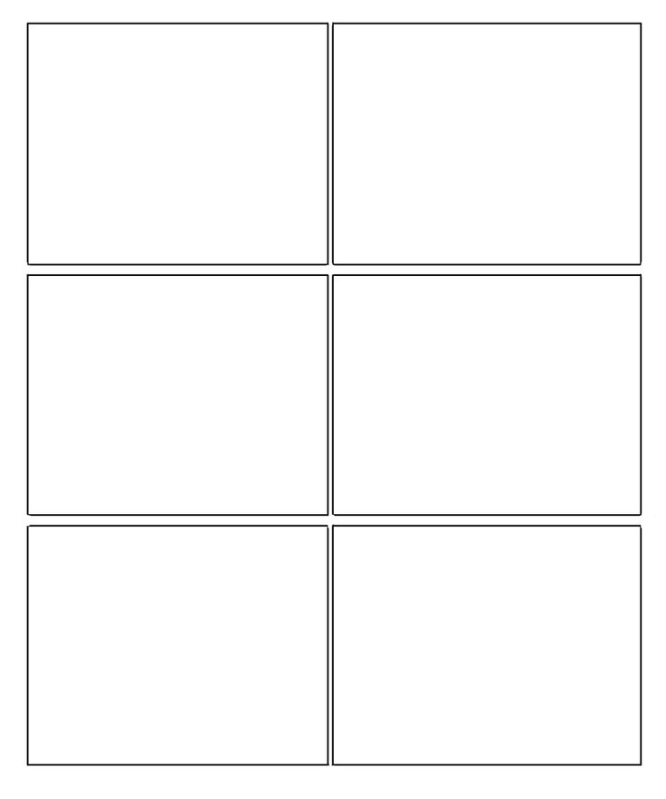 Blank Comic Strip 6 Panels Six box template blank comic strip template ...
