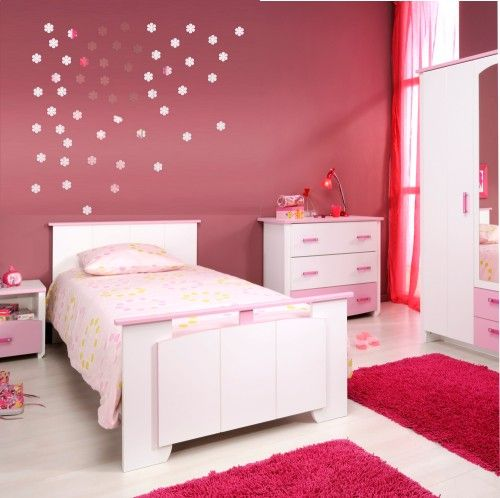 Kvietky nalepovacie zrkadlá do detskej izby