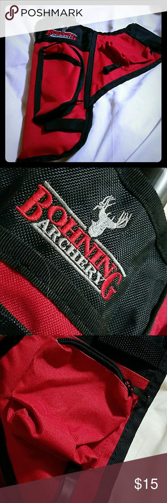 Bohing archery quiver never been used 2 pockets Will trade! Only other archery equipment that I like Other