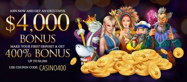 Online Casino 400% Bonus