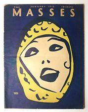 The Masses Volume 8, #3 Max Eastman 1916 History Essays Politics Art Protest SC