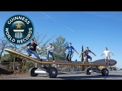 World's Largest Skateboard - Meet The Record Breakers - Guinness World Records