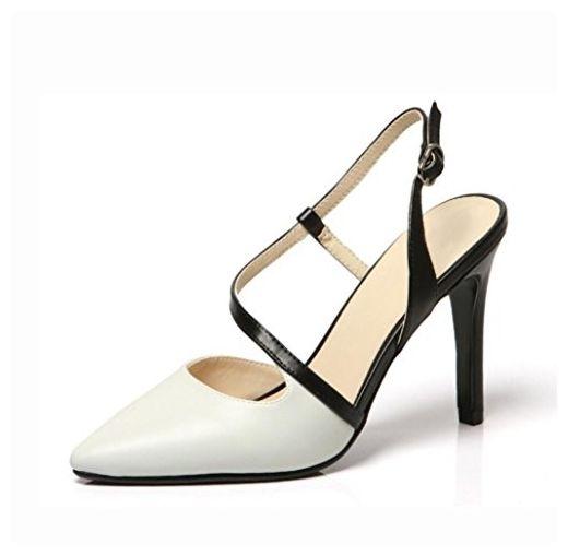 Frau Fersen Ferse Stilettos Bankett Partei wies Ledersandalen weibliche Schuhe Temperament Baotou , 36 - Sportschuhe für frauen (*Partner-Link)