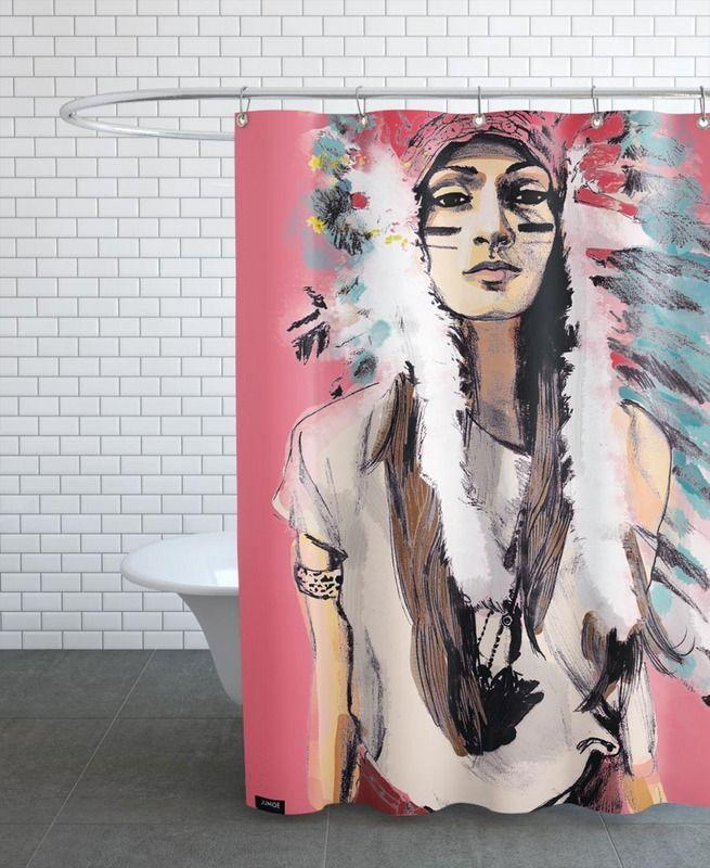 Cassandre en Rideau de douche par Agnes KR Patience | JUNIQE