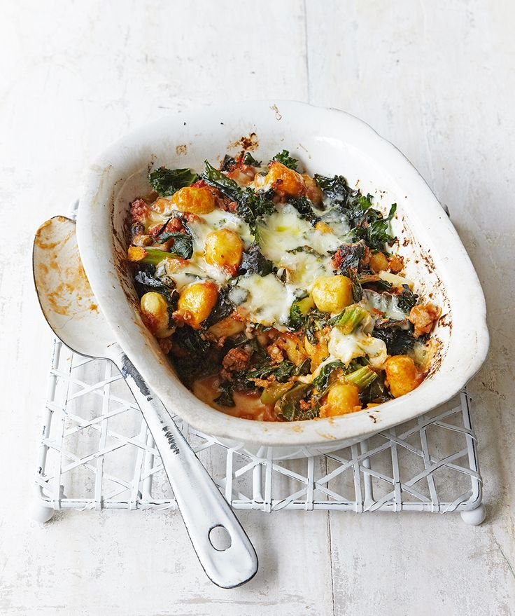 Easy to make and quick to cook this sausage and kale gnocchi bake is the ultimate in midweek comfort food.