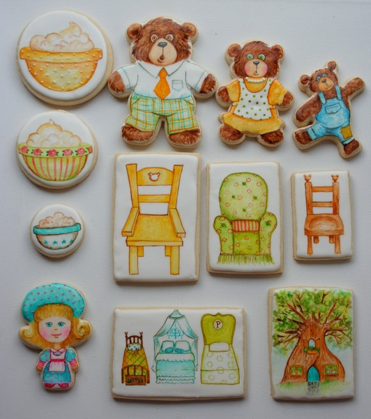 Goldilocks, presented by Liz of Arty McGoo - for a collection by the flour box bakery
